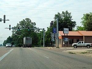 Arkansas Highway 4 - Western terminus of Highway 4's eastern segment at US 65/US 165/US 278 in McGehee.