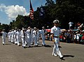 US Navy 041020-N-0493B-004 Sailors assigned to the guided missile cruiser USS Lake Erie (CG 70) march as part of a parade commemorating the 60th anniversary of the Leyte Landing and the Battle of Leyte Gulf in 1944.jpg