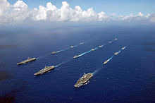 Carrier Strike Group Wikipedia - Us navy ships aircraft carriers movement stratfor maps