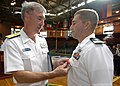 US Navy 061019-N-4965F-001 Rear Adm. T. G. Alexander, Commander, Navy Region Hawaii, presents the Bronze Star on behalf of the President of the United States to Lt. Brian Skubin assigned to Explosive Ordnance Disposal Mobile Un.jpg