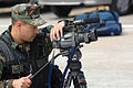 US Navy 070323-F-9074R-062 Mass Communication Specialist 2nd Class Mark August videotapes U.S. Navy Sailors with Naval Mobile Construction Battalion (NMCB) 3, working with South Korean Navy Sailors during Foal Eagle 2007.jpg