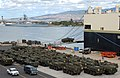 US Navy 070801-N-4965F-006 U.S. Army Stryker's attached to the 2nd Stryker Brigade Combat Team (2SBCT) are staged on the kilo piers of the Fleet Industrial Supply Center at Naval Station Pearl Harbor.jpg