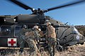 US Navy 071211-N-9623R-003 Seabees from Naval Mobile Construction Battalion (NMCB) 17 load a patient into a UH-60 Blackhawk medical evacuation helicopter.jpg