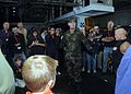 US Navy 081015-N-9640S-054 Electricians Mate 3rd Class Samuel Terry gives a force protection demonstration to participants in a Tigers Cruise.jpg