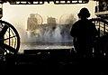 US Navy 100114-N-5345W-095 A landing craft air cushion prepares to enter the well deck of USS Bataan (LHD 5).jpg