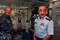 US Navy 100802-N-9706M-123 Capt. Christopher Bolt gives a tour of the ship's dental facility to Maj. Gen. Mohamed Al-Sabah.jpg