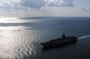 US Navy 120120-N-GZ832-643 The Nimitz-class aircraft carrier USS Carl Vinson (CVN 70) is underway in the Arabian Sea.jpg