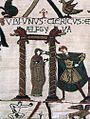 Unidentified artists - The Bayeux Tapestry - Unidentified cleric and Aelfgyva - WGA24160.jpg