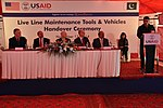 United States Agency for International Development's (USAID) Mission Director to Pakistan, Greg Gottlieb, presented the power distribution companies PESCO and IESCO with tools and maintenance vehicles (15755476716).jpg
