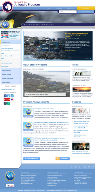 Website - The usap.gov website