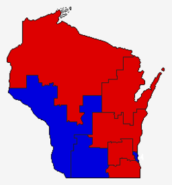 United States House of Representatives elections in Wisconsin, 2014 results by district.png