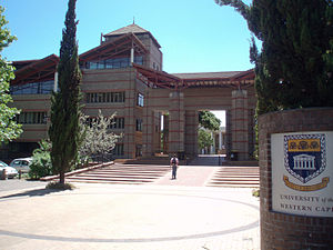 University of the Western Cape - Entry to Central campus from the west.