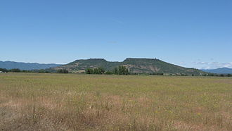 Upper and Lower Table Rock - Upper Table Rock from the Denman Wildlife Area