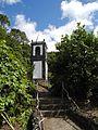 Urzelina - Glockenturm nach dem Vulkanausbruch 1808.JPG