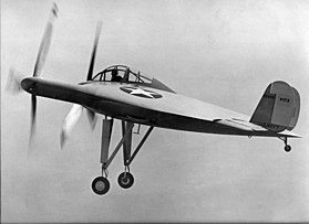 "Primo volo del Vought V-173 ""Flying Flapjack"" nel 1942."
