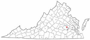Bellwood, Virginia - Image: VA Map doton Bellwood