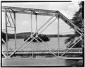 VIEW OF TRUSS PANELS FROM EAST - North Carolina Route 126 Bridge, Spanning Lake James Canal, Linville, Burke County, NC HAER NC,12-MAR.V,1-5.tif