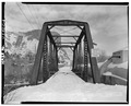 VIEW OF WEST APPROACH - Heber Creeper Railroad Line, Olmstead Bridge, Spanning Provo River, Provo, Utah County, UT HAER UTAH,25-PROVO.V,1C-3.tif