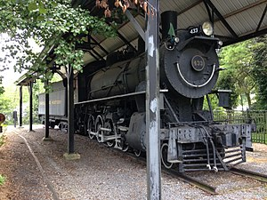 Virginia Creeper Trail - Original Locomotive No. 433 at the trail head of Virginia Creeper Trail.