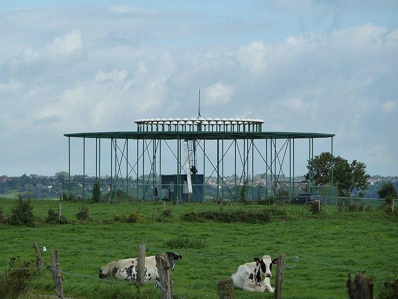 VOR station near the village Forêt, southeast of Liège, Belgium