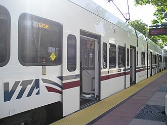 Santa Clara Valley Transportation Authority light rail - VTA Light Rail Car