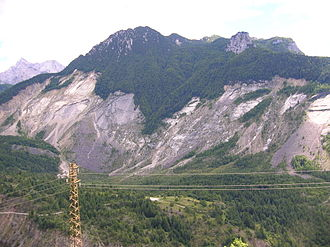 Monte Toc - The area of the 1963 landslide on Monte Toc, taken in 2005