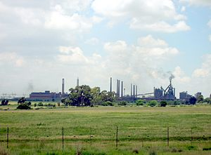 Vanderbijlpark - The steel mill at Vanderbijlpark, owned by ArcelorMittal.