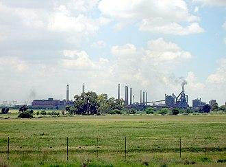 Vanderbijlpark - The steel mill at Vanderbijlpark, owned by ArcelorMittal.