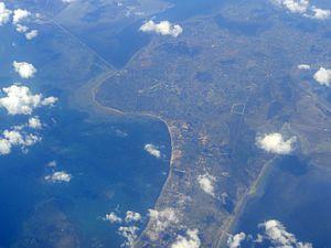 Velanai Island - Aerial view of the Velanai Island.