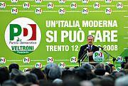 Walter Veltroni a Trento per la campagna elettorale 2008
