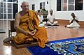 Venerable Ajahn Clyde Jarudhammo Clyde leading evening chanting in BCDC.jpg