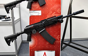 Vepr-12 - Carbine ВПО-206 (VPO-206) with collapsible stock