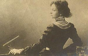 Vera Komissarzhevskaya - Komissarzhevskaya on a postcard.