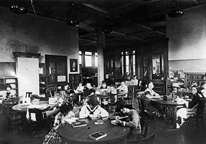 Vermont Square Branch - Children's reading room, 1913, photograph from the collection of the Los Angeles Public Library