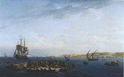 Claude Joseph Vernet: Vue du golfe de Bandol: la pêche au thon