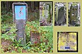 Verschiedenen Markierungssteine und Messsäule eines Telefonkabels bei Schmiedeberg.jpg