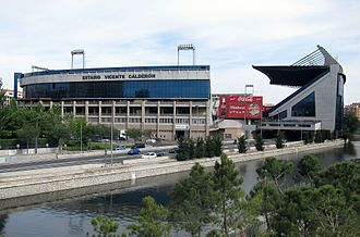 Vicente Calderón Stadium - North external view of the stadium.
