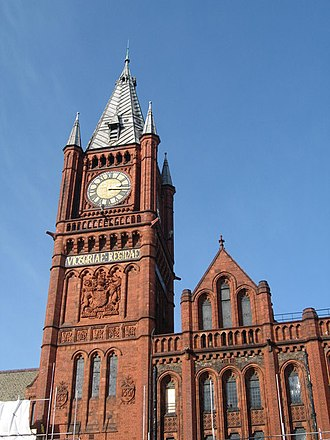 "James Chadwick - ""Red brick"" Victoria Building at the University of Liverpool"