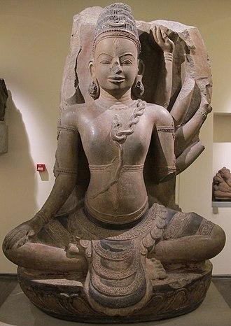 Vijaya (Champa) - Statue of Shiva from Thap Banh It, Vijaya (now in Guimet Museum)
