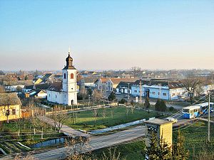 Kisač - Image: View from the Evangelical Church Tower in Kisach