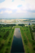 View from the observation deck of The San Jacinto Monument