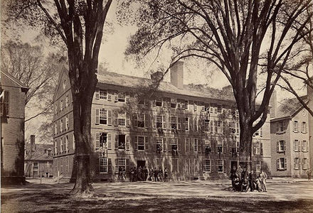 Connecticut Hall, oldest building on the Yale campus, built between 1750 and 1753 View of Connecticut Hall Old Campus Yale College New Haven Connecticut.jpg