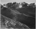 "View of hills and mountains, ""In Rocky Mountain National Park,"" Colorado, 1933 - 1942 - NARA - 519956.tif"