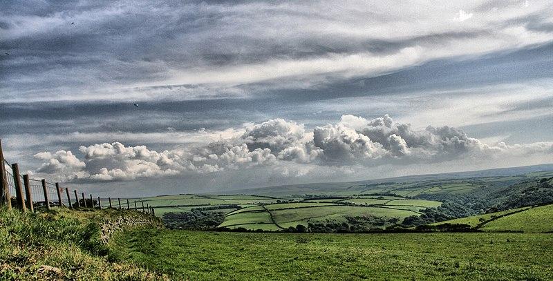 File:View towards Lorna Doone valley, Exmoor (2545891510).jpg