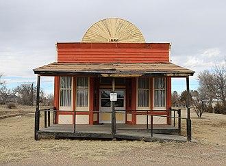 Vilas, Colorado - A former saloon on Main Street.