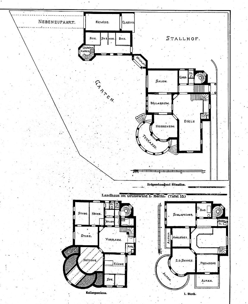 datei villa im grunewald bei berlin trabenerstr 1 architekt ludwig otte tafel 15. Black Bedroom Furniture Sets. Home Design Ideas