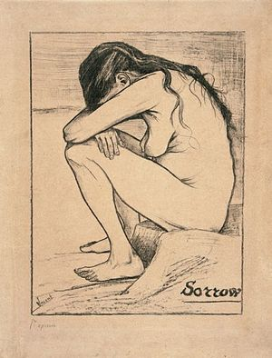 Sorrow (Van Gogh) - A print (F 1655, JH 259)