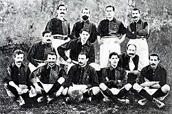 A formation of FC Barcelona in 1903