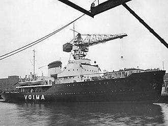 Voima (1952 icebreaker) - Voima shortly before delivery at Wärtsilä Hietalahti shipyard