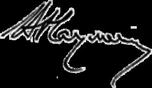 Volodymyr Pavlovych Naumenko - Signature of Volodymyr Naumenko